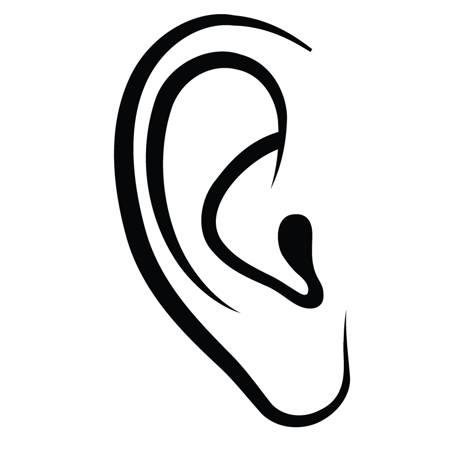 outline picture of ear library of ear canal banner royalty free download png ear picture of outline