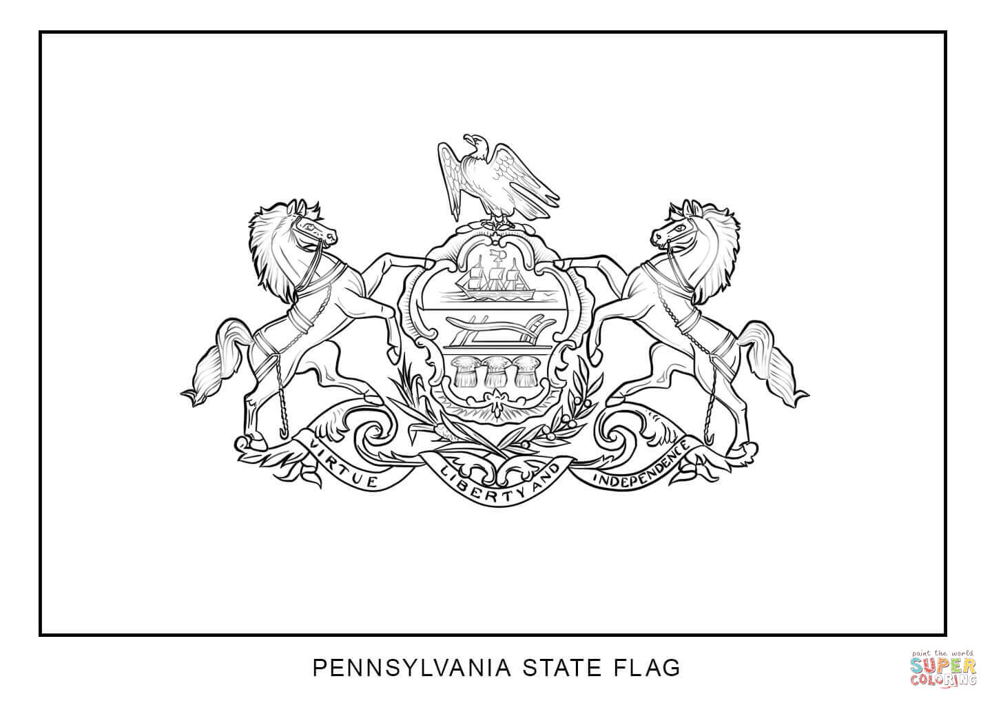 pa state bird flag of pennsylvania coloring page free printable state bird pa
