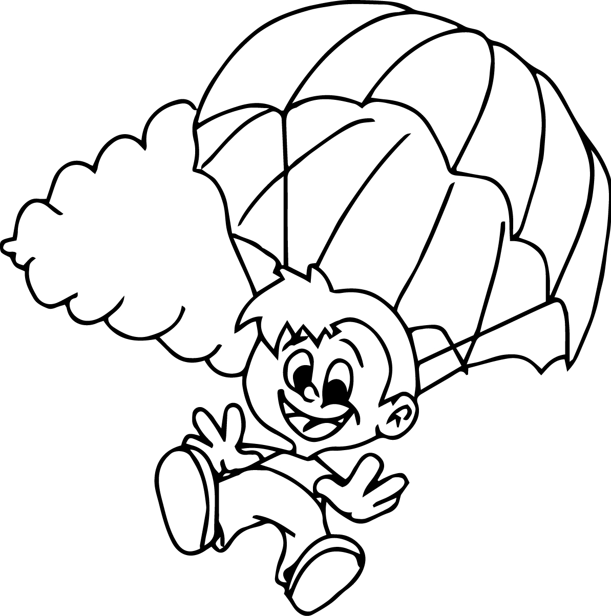 parachute coloring pages paratrooper drawing at getdrawings free download parachute pages coloring