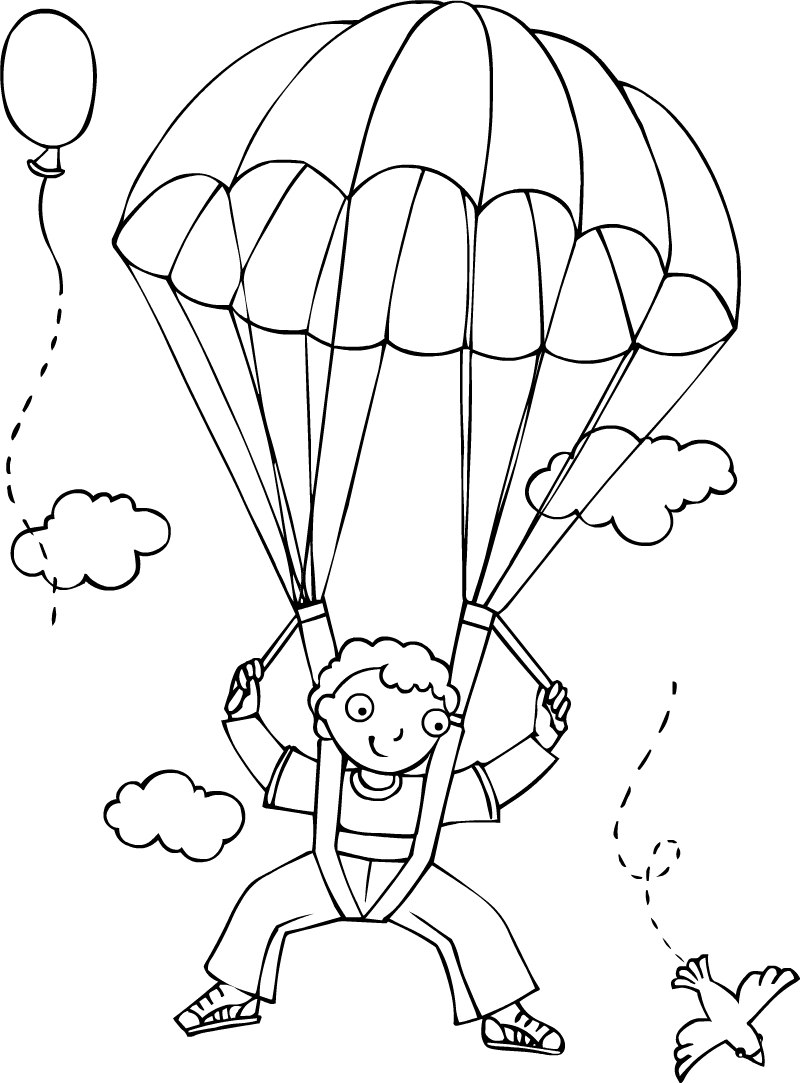 parachute coloring pages skydiving coloring pages at getcoloringscom free pages coloring parachute