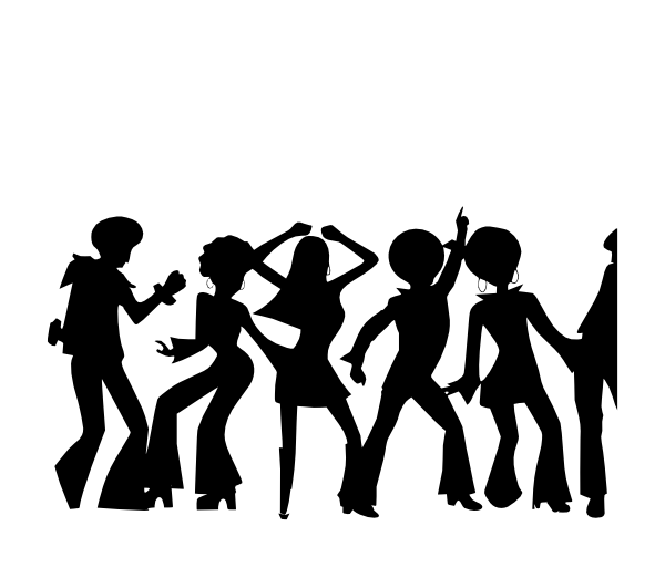 party silhouette dancing party silhouettes stock vector illustration of party silhouette