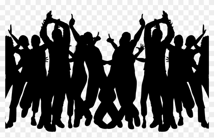 party silhouette download party crowd silhouette png download template silhouette party