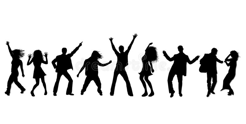 party silhouette party dancing vectors free vector graphics everypixel silhouette party