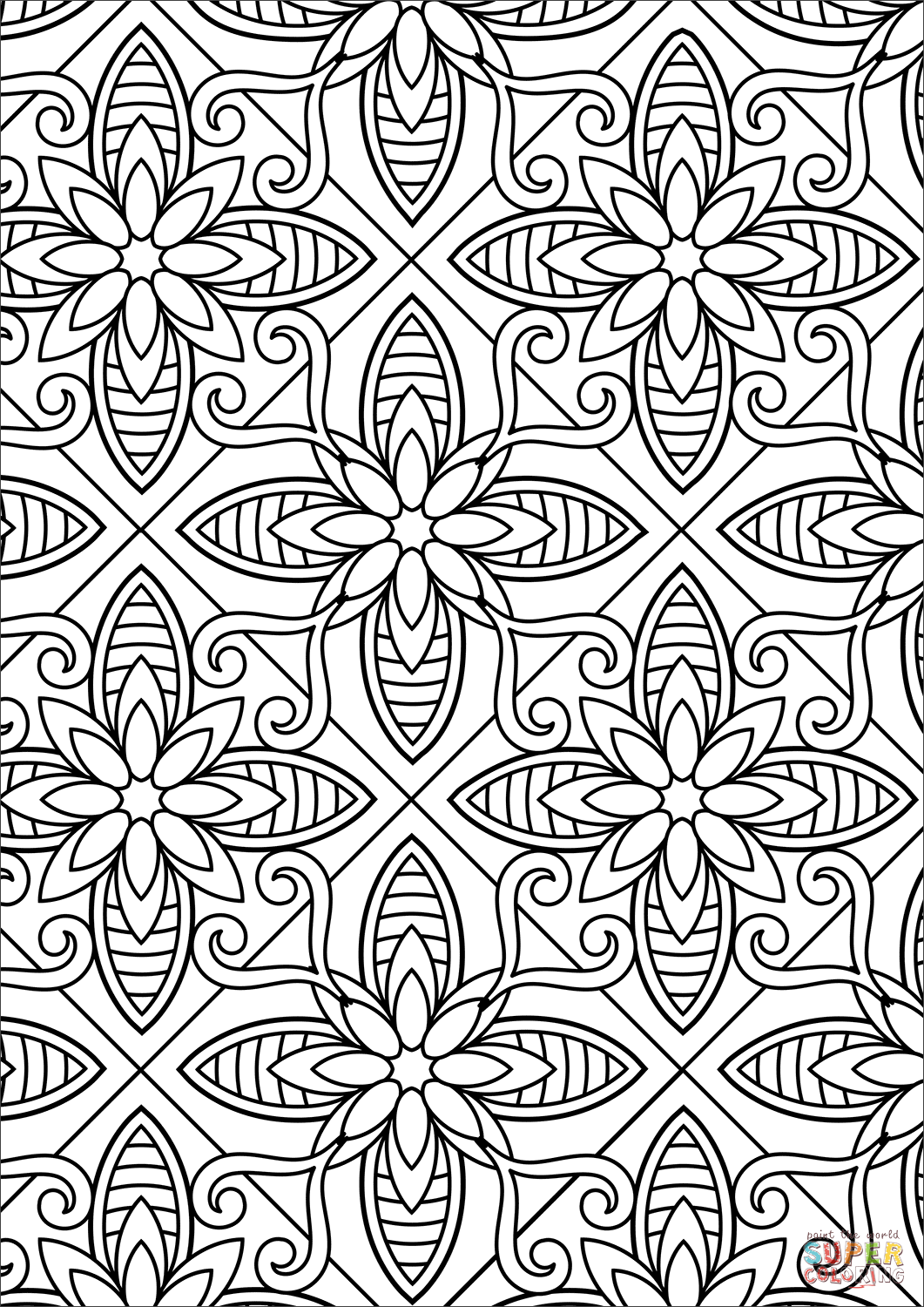 pattern coloring books 50 free square patterns kaleidoscope adult coloring pattern coloring books