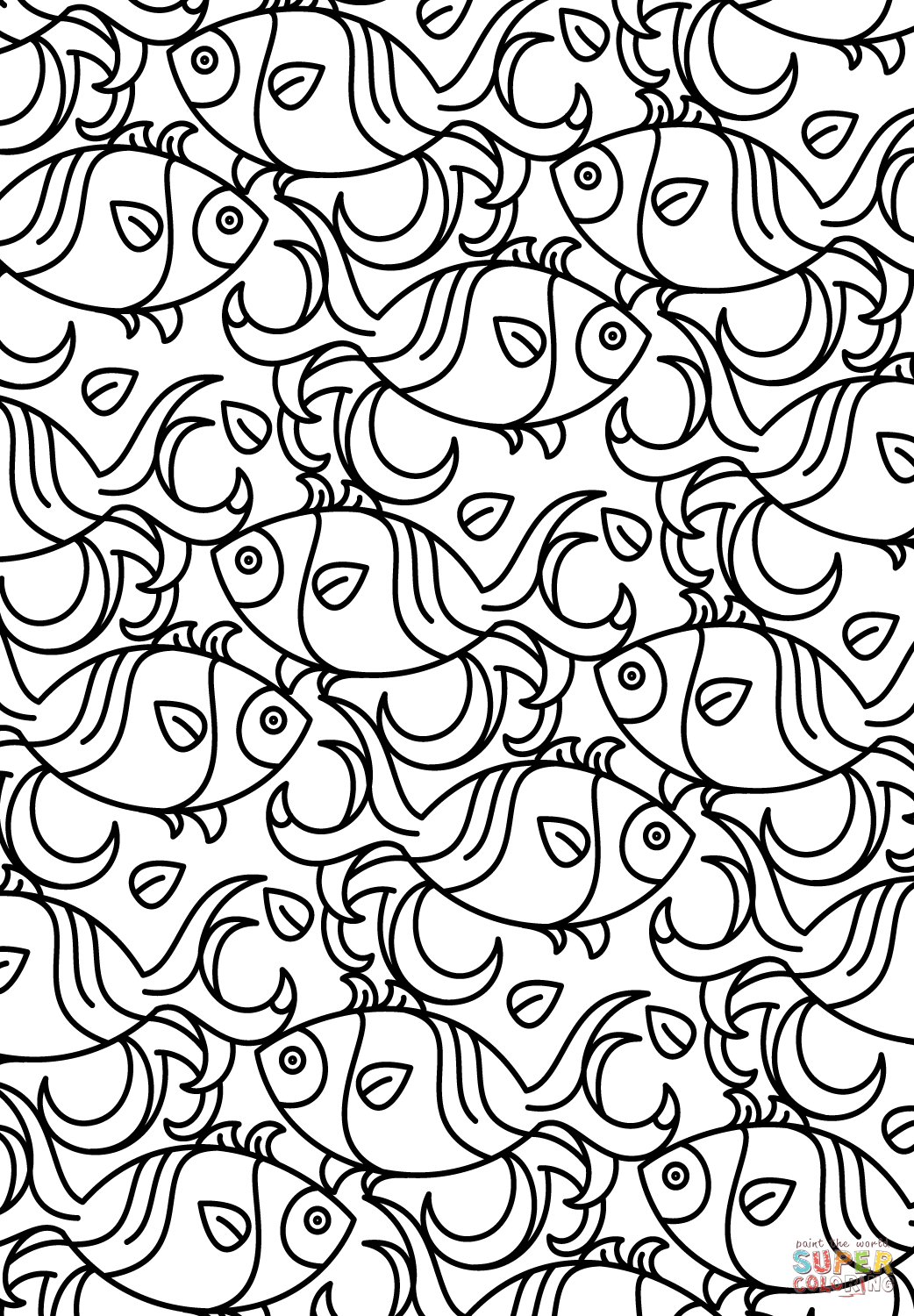 pattern coloring books fish pattern coloring page free printable coloring pages coloring books pattern