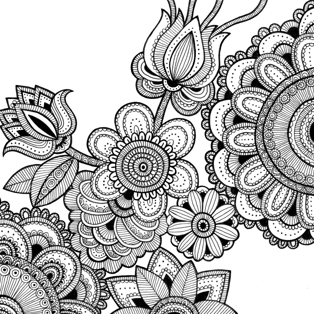pattern coloring books intricate coloring pages the sun flower pages books coloring pattern