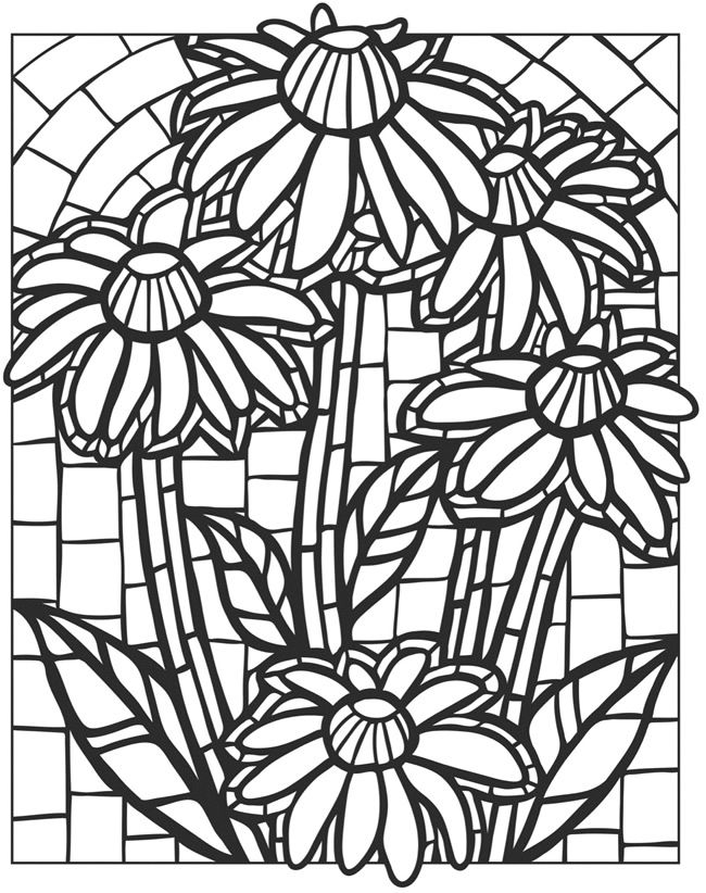 pattern coloring books stained glass coloring pages for adults best coloring pattern books coloring