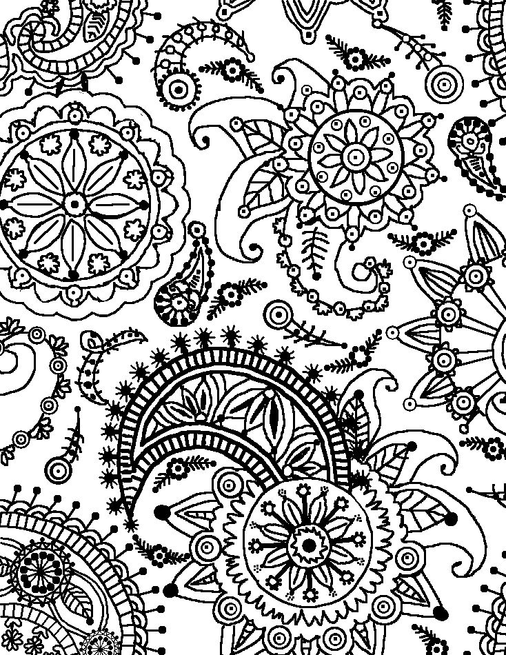 pattern coloring pages for adults coloring page world paisley flower pattern portrait pattern adults for pages coloring