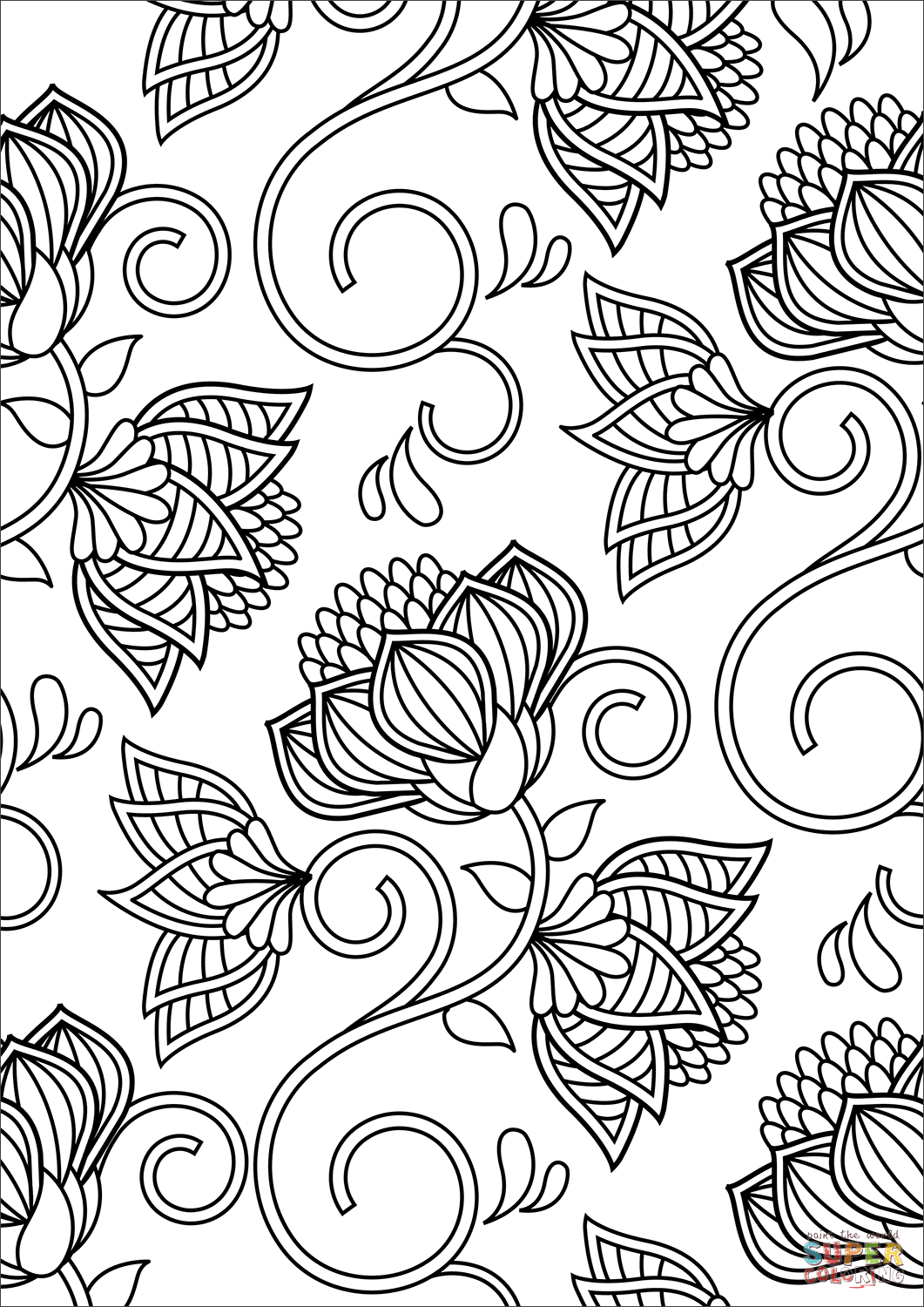 pattern coloring pages for adults lotus pattern coloring page free printable coloring pages pages coloring for adults pattern