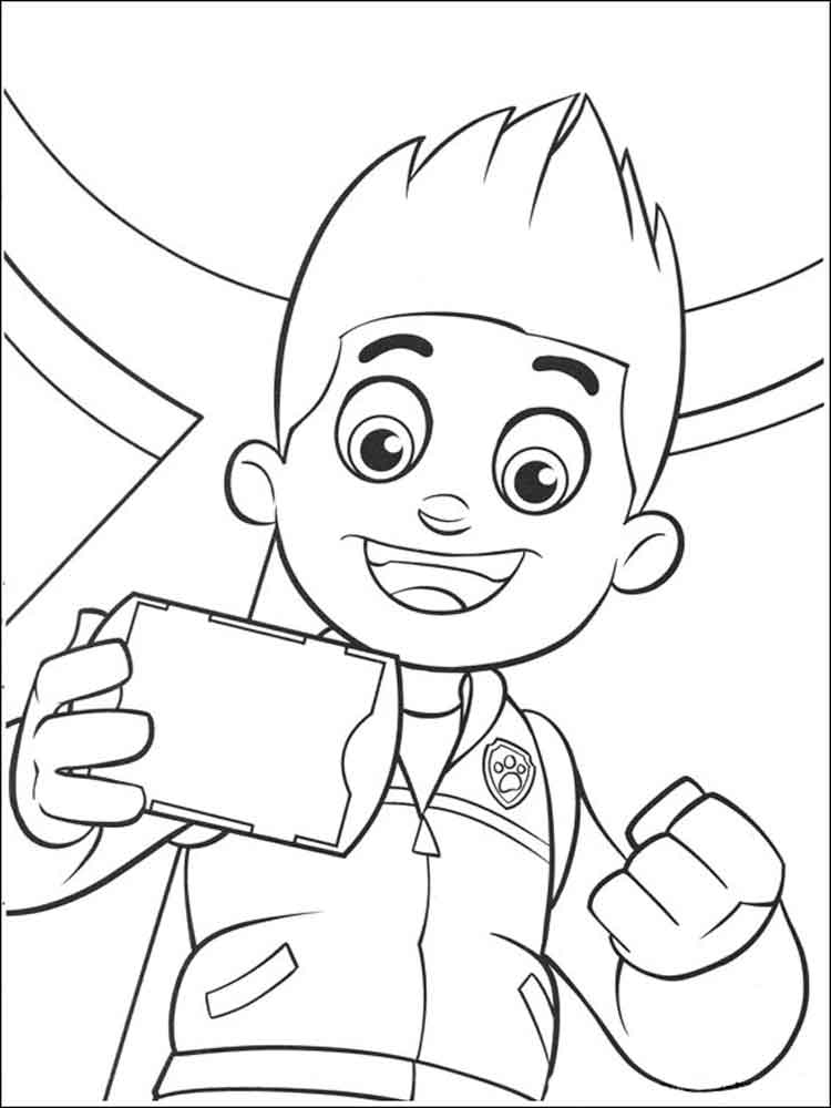 paw patrol coloring pages ryder coloring book paw patrol print free a4 50 pictures ryder coloring patrol paw pages