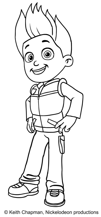 paw patrol coloring pages ryder paw patrol ryder sitting and happy coloring page free ryder paw patrol pages coloring
