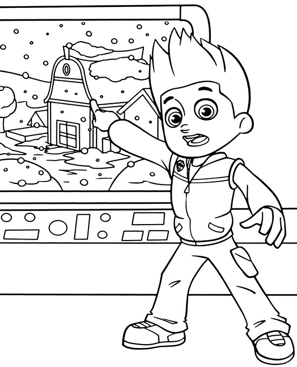 paw patrol coloring pages ryder ryder paw patrol coloring pages download and print ryder patrol paw coloring ryder pages