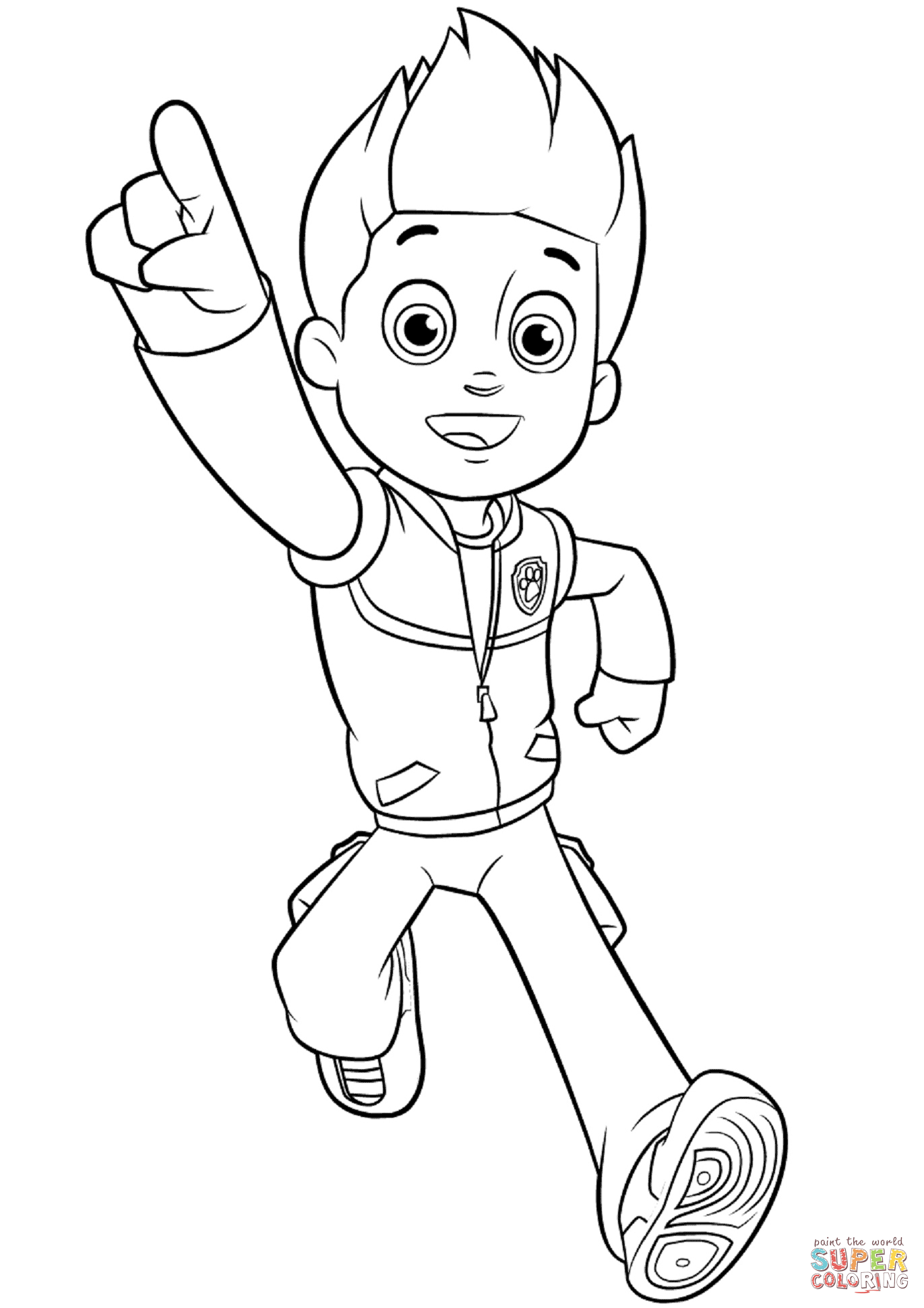 paw patrol coloring pages ryder ryder printable coloring page for kids and adults ryder patrol paw pages coloring