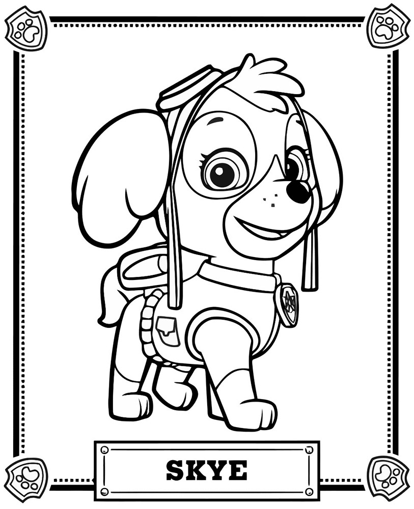 paw patrol coloring sheets coloring book paw patrol print free a4 50 pictures coloring patrol paw sheets