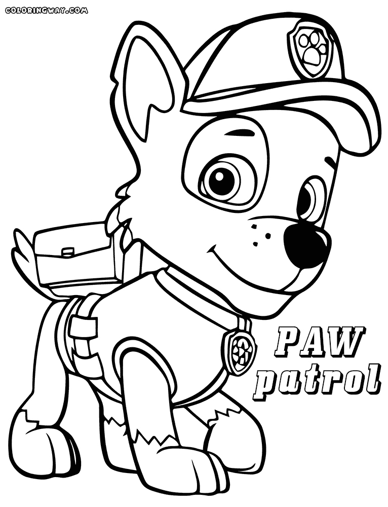 paw patrol free coloring free coloring pages of paw patrol raul printable paw patrol free coloring