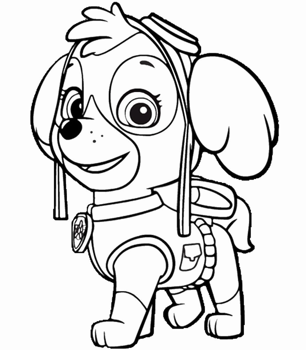 paw patrol marshall coloring 28 chase paw patrol coloring page in 2020 with images paw marshall patrol coloring