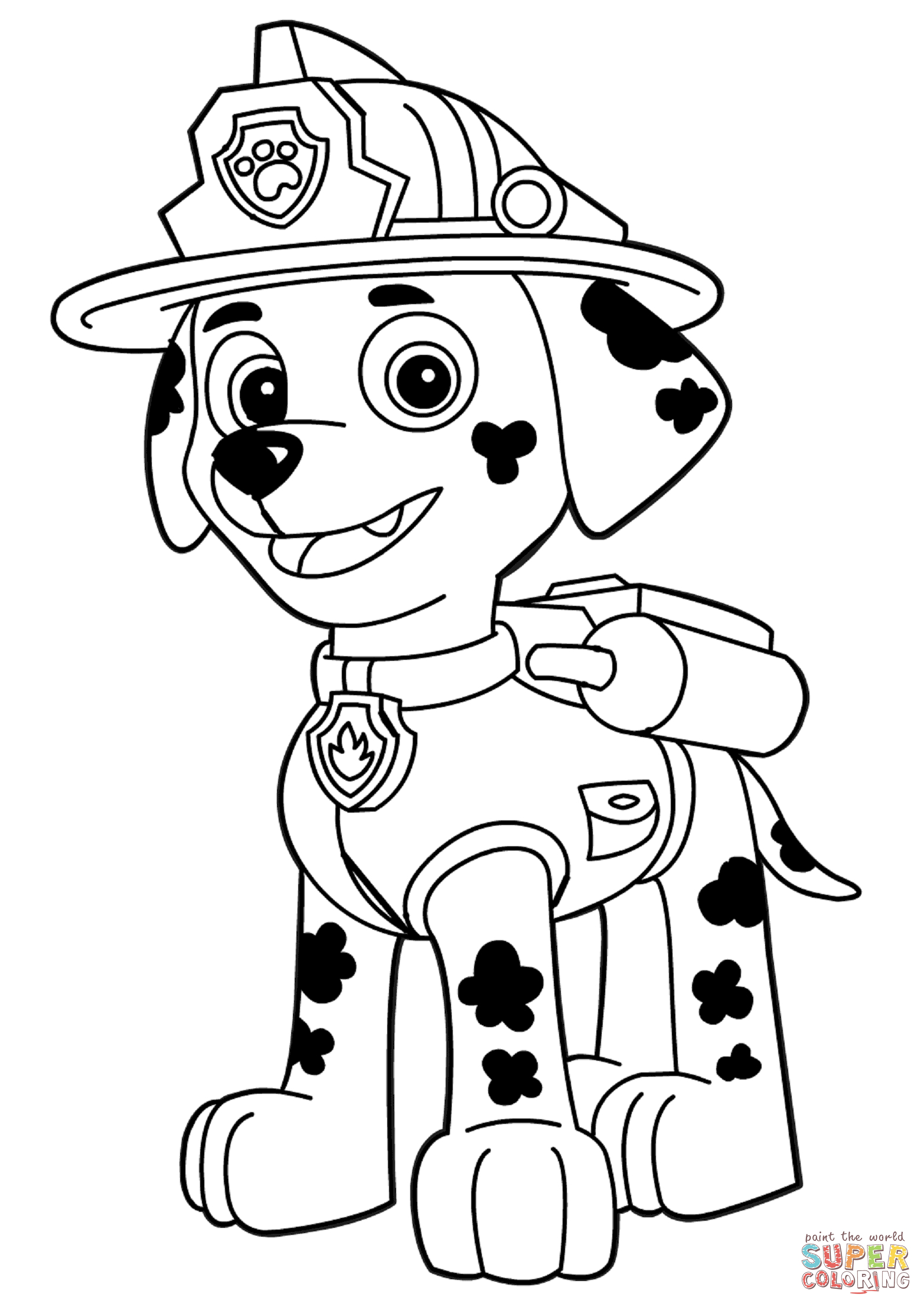 paw patrol marshall coloring coloring for kids marshall coloring page marshall paw patrol coloring marshall