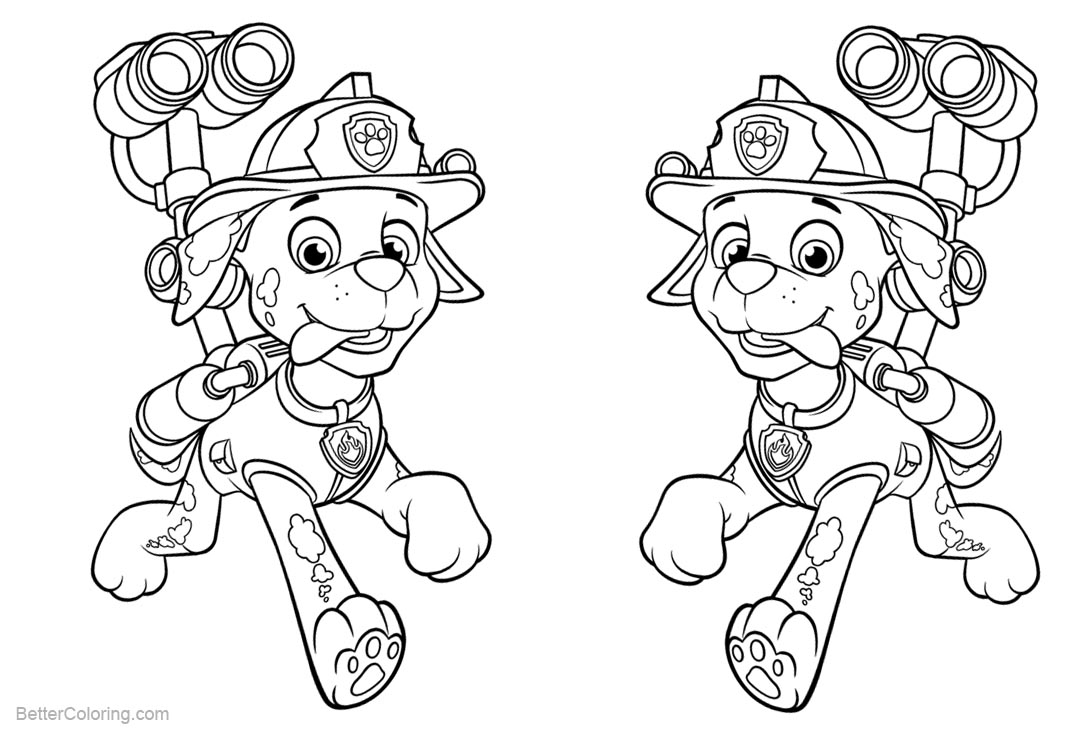 paw patrol marshall coloring marshall from paw patrol coloring pages with water cannon coloring paw marshall patrol