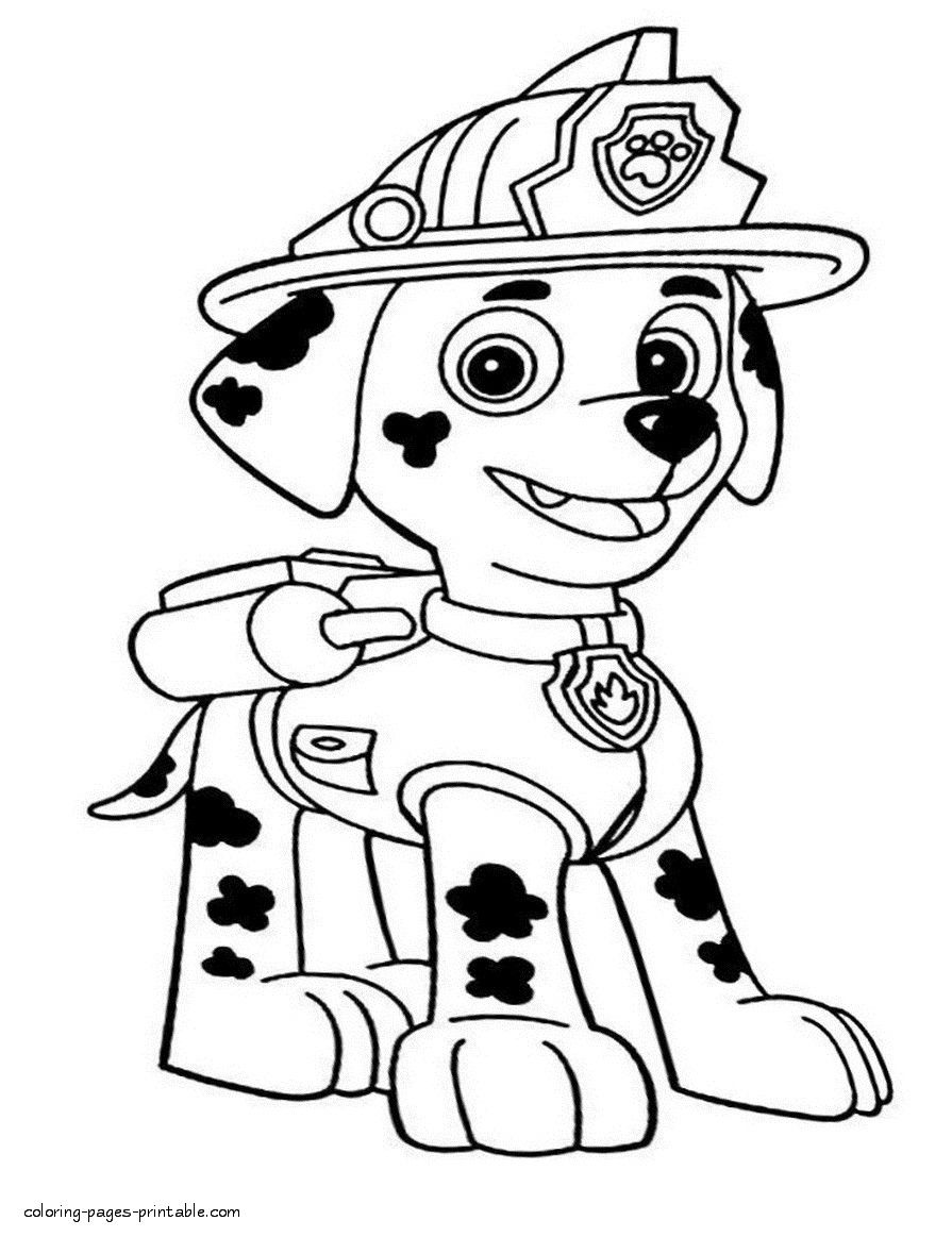 paw patrol marshall coloring marshall paw patrol coloring pages printable marshall patrol coloring paw marshall