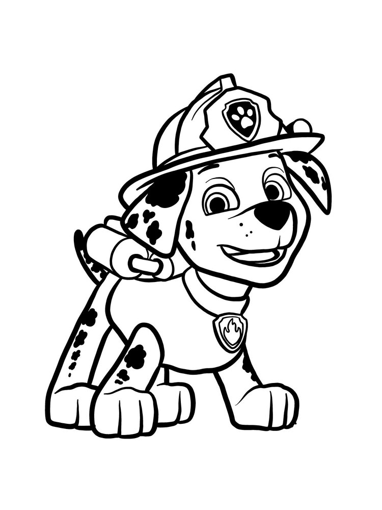 paw patrol marshall coloring marshall paw patrol drawing at getdrawings free download coloring patrol paw marshall