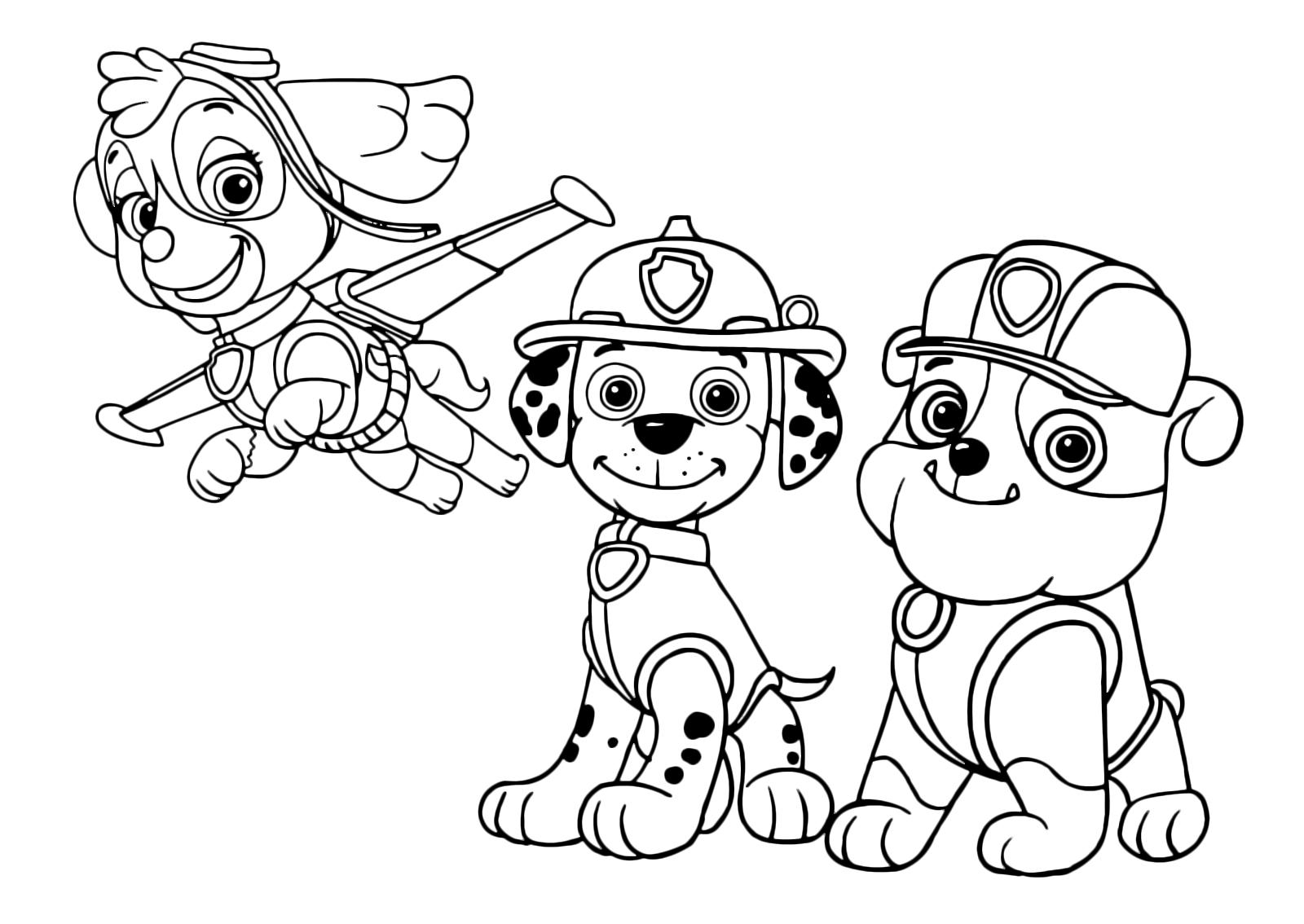 paw patrol marshall coloring paw patrol coloring pages marshall and firetruck paw marshall coloring patrol