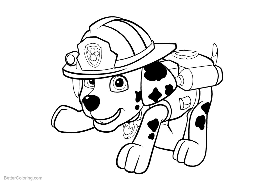 paw patrol marshall coloring paw patrol coloring pages marshall free printable coloring patrol paw marshall
