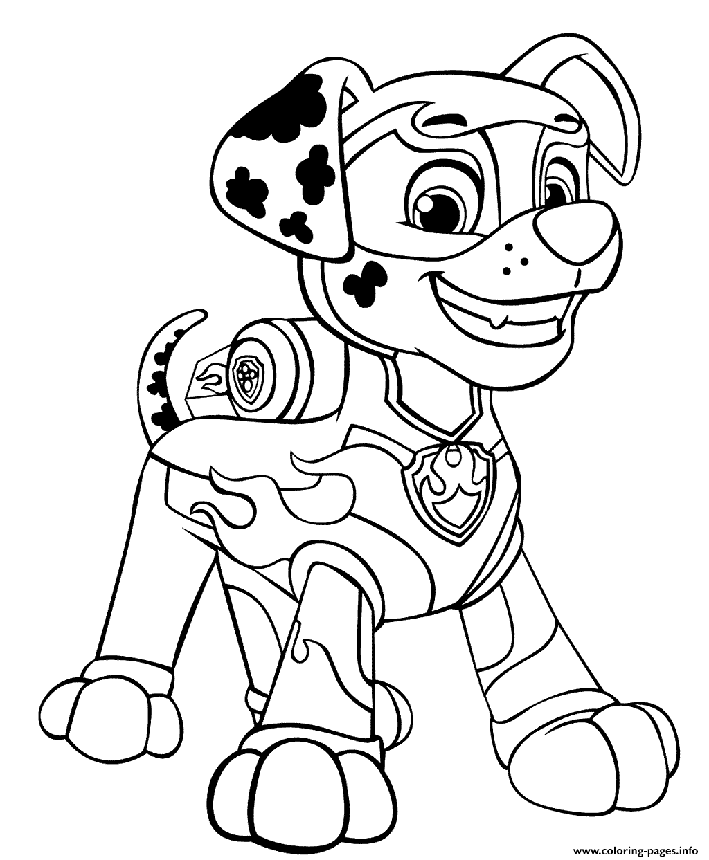 paw patrol marshall coloring paw patrol mighty pups coloring pages coloring home coloring paw marshall patrol
