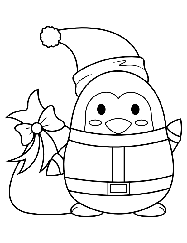 penguin picture to color christmas penguin coloring pages free download on clipartmag color penguin picture to