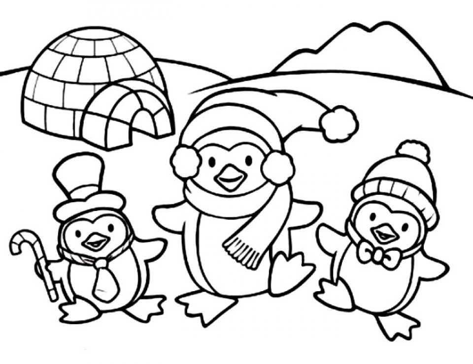 penguin picture to color lovely brother penguins coloring page free printable picture penguin color to