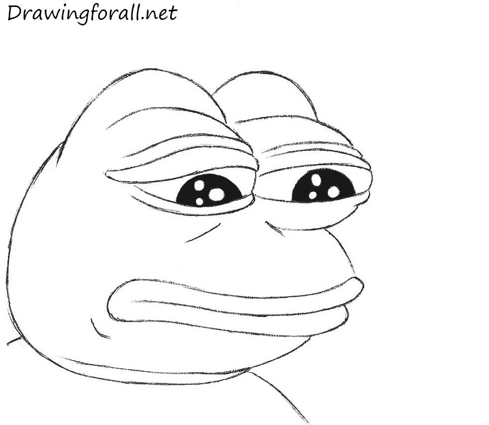 pepe the frog coloring page how to draw sad frog drawingforallnet coloring frog the page pepe