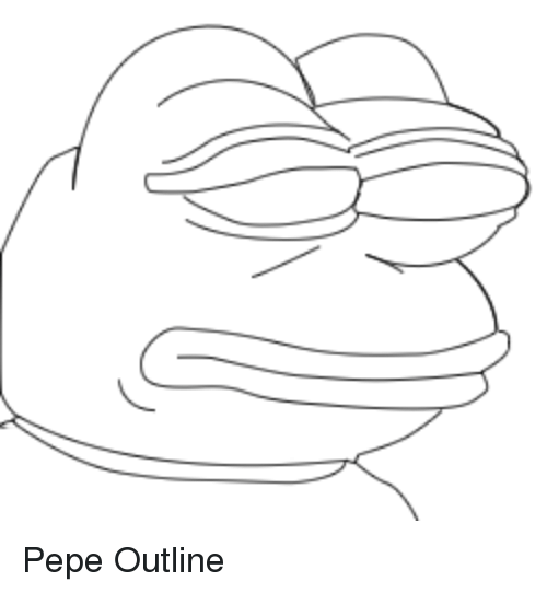 pepe the frog coloring page pepe outline pepe the frog meme on meme the pepe coloring page frog