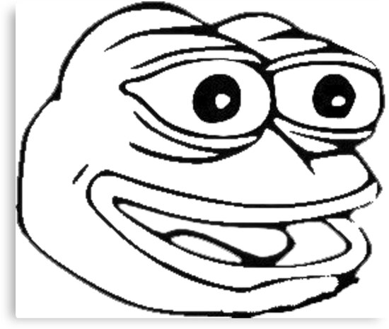 pepe the frog coloring page quotpepe the frog meme dreamsquot canvas prints by fuckingmemes frog pepe coloring page the