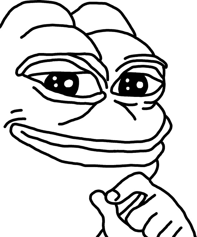 pepe the frog coloring page quotsmug pepequot metal prints by jamsbrah redbubble pepe coloring page the frog