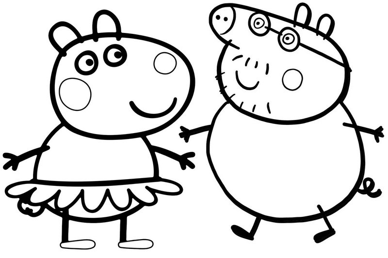 peppa pig colo mandy mouse and daddy pig of peppa pig coloring page pig colo peppa