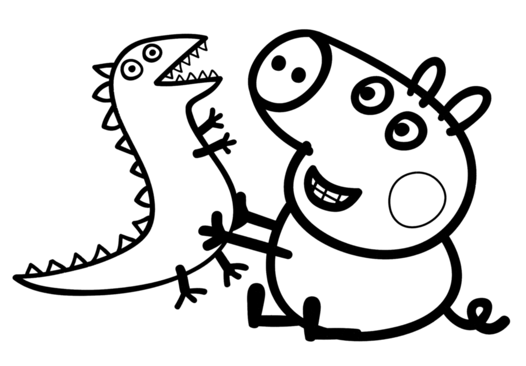 peppa pig colo peppa pig coloring pages coloringrocks colo peppa pig