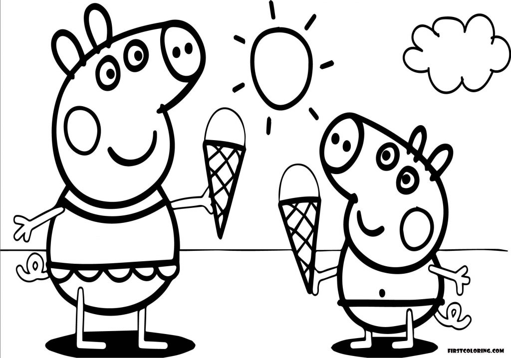 peppa pig colo peppa pig coloring pages for girls first coloring for pig peppa colo