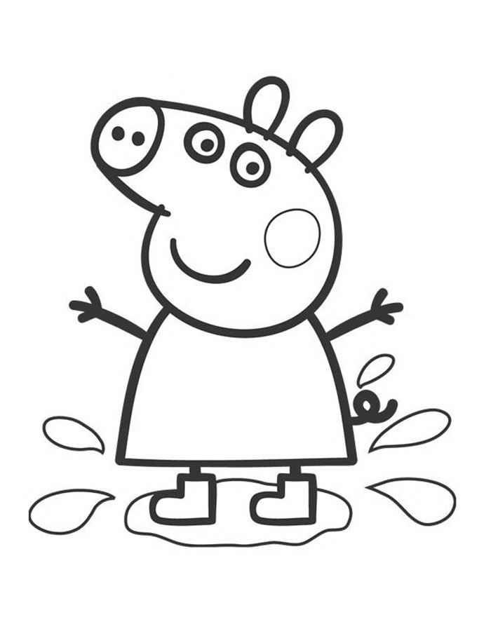 peppa pig colo peppa pig coloring pages to print for free and color colo pig peppa 1 1