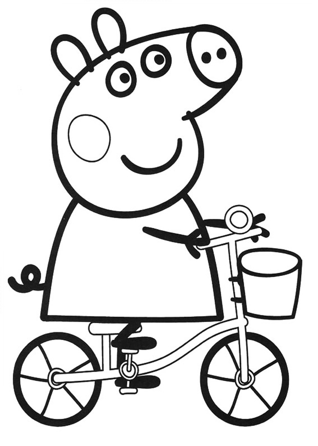 peppa pig colo peppa pig coloring pages to print for free and color peppa colo pig