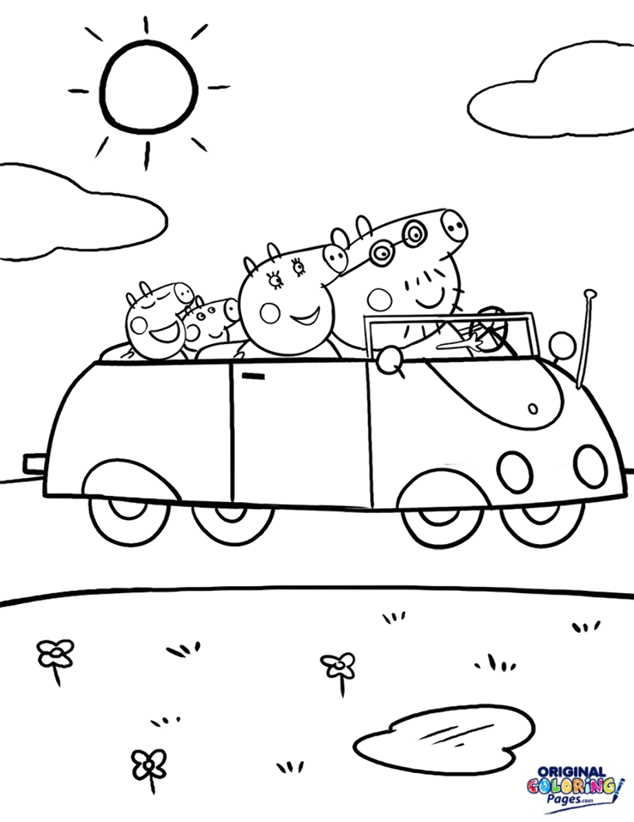 peppa pig colo peppa pig fire car coloring pages print coloring 2019 colo pig peppa