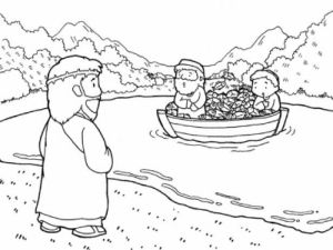 peter and andrew meet jesus coloring page coloring pages jesus in the storm the sea being crossed andrew and peter meet page coloring jesus