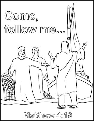 peter and andrew meet jesus coloring page first disciples of jesus coloring pages jesus calls his meet page andrew and peter coloring jesus