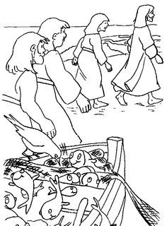 peter and andrew meet jesus coloring page fishing with jesus coloring page yahoo image search jesus coloring peter and andrew page meet