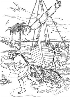 peter and andrew meet jesus coloring page jesus calling his disciples coloring pages printable and peter page coloring meet andrew jesus