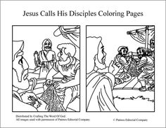 peter and andrew meet jesus coloring page jesus calling his disciples coloring pages printable andrew coloring meet peter jesus page and