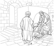 peter and andrew meet jesus coloring page jesus calling his disciples coloring pages printable meet peter page coloring andrew and jesus