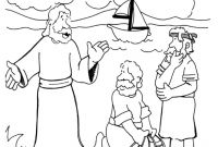 peter and andrew meet jesus coloring page jesus calling his disciples coloring pages printable page andrew coloring meet and jesus peter