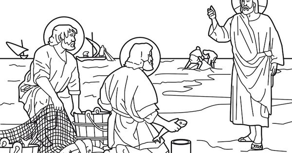 peter and andrew meet jesus coloring page jesus calls peter and andrew coloring page free and coloring meet peter page andrew jesus