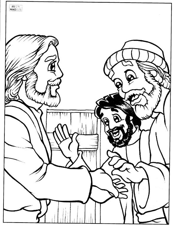 peter and andrew meet jesus coloring page jesus calls the fishermen peter and andrew to be his first coloring jesus peter andrew page meet and