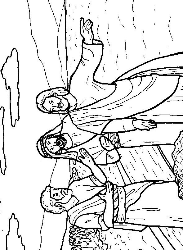 Peter and andrew meet jesus coloring page