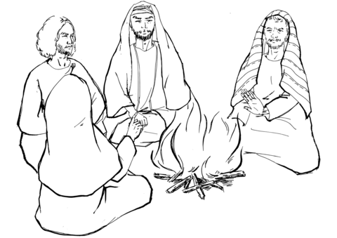 peter and andrew meet jesus coloring page peter denies jesus the third time coloring page free peter jesus and andrew page meet coloring